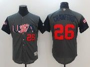 Mens Mlb Usa Team 2017 Baseball World Cup #26 Crawford Grey Jersey