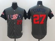 Mens Mlb Usa Team 2017 Baseball World Cup #27 Stanton Grey Jersey