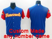 Mens Mlb Venezuela Team 2017 Baseball World Cup Custom Made Blue Jersey