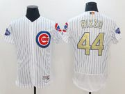 Mens Majestic Mlb Chicago Cubs #44 Rizzo White 2017 Gold Program Flex Base Player Jersey