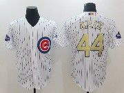 Mens Majestic Mlb Chicago Cubs #44 Rizzo White 2017 Gold Program Cool Base Player Jersey