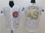 Mens Majestic Mlb Chicago Cubs #49 Arrieta White 2017 Gold Program Flex Base Player Jersey