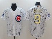 Mens Majestic Mlb Chicago Cubs #9 Baez White 2017 Gold Program Cool Base Player Jersey