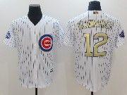 Mens Majestic Mlb Chicago Cubs #12 Kyle Schwarber White 2017 Gold Program Cool Base Player Jersey