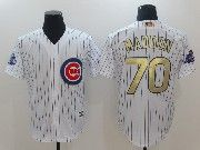 Mens Majestic Mlb Chicago Cubs #70 Maddon White 2017 Gold Program Cool Base Player Jersey