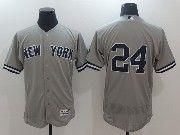 Mens Mlb New York Yankees #24 Gary Sanchez Grey Flex Base Jersey