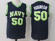 Mens Ncaa Nba San Antonio Spurs #50 David Robinson Dark Blue Naval Academy Navy Midshipmen College Basketball Jersey