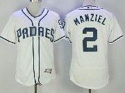 Mens Mlb San Diego Padres #2 Johnny Manziel White Flex Base Baseball Jersey