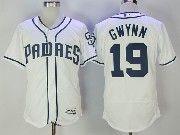 Mens Mlb San Diego Padres #19 Tony Gwynn White Flex Base Baseball Jersey
