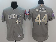 Mens Majestic Mlb Chicago Cubs #44 Anthony Rizzo Grey Flex Base Jersey