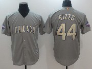 Mens Majestic Mlb Chicago Cubs #44 Anthony Rizzo Grey Cool Base Jersey