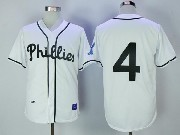 Mens Mlb Philadelphia Phillies #4 Jimmie Foxx White Throwback Jersey