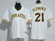 Mens Majestic Mlb Pittsburgh Pirates #21 Roberto Clemente White Cool Base Jersey