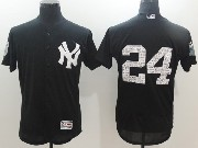 Mens Mlb New York Yankees #24 Gary Sanchez Black 2017 Spring Training Flex Base Jersey