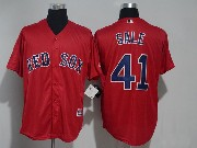Mens Majestic Mlb Boston Red Sox #41 Chris Sale Red Cool Base Jersey