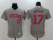 Mens Majestic Mlb Chicago Cubs #17 Kris Bryant Grey Mother's Day Flex Base Jersey