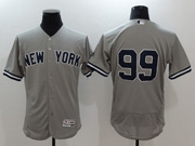 Mens Mlb New York Yankees #99 Aaron Judge Grey Flex Base Jersey