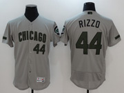 Mens Majestic Mlb Chicago Cubs #44 Anthony Rizzo Grey 2017 Memorial Day Flex Base Jersey