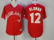 Mens Mlb Toronto Blue Jays #12 Roberto Alomar Red Cool Base Jersey