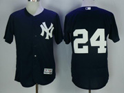 Mens Mlb New York Yankees #24 Gary Sanchez Dark Blue Flex Base Jersey