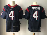 Mens Nfl Houston Texans #4 Deshaun Watson Blue Elite Jersey