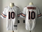 Mens Nfl Chicago Bears #10 Mitchell Trubisky White Elite Jersey