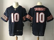 Mens Nfl Chicago Bears #10 Mitchell Trubisky Blue Elite Jersey