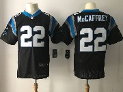 Mens Nfl Carolina Panthers #22 Christian Mccaffrey Black Elite Jersey