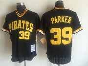 Mens Mitchell&ness Mlb Pittsburgh Pirates #39 Dave Parker Black Throwbacks Pullover Mesh Jersey
