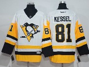 Mens Reebok Nhl Pittsburgh Penguins #81 Phil Kessel Away Premier White Jersey