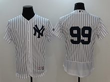 Mens Mlb New York Yankees #99 Aaron Judge White Flex Base Jersey No Name