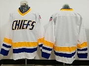 Mens Slap Shot Charlestown Chiefs Blank White Movie Ice Hockey Jersey