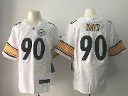 Mens Pittsburgh Steelers #90 T. J. Watt White Elite Jersey