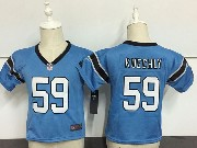 Kids Nfl Carolina Panthers #59 Luke Kuechly Light Blue Jersey