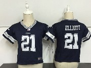 Baby Nfl Dallas Cowboys #21 Ezekiel Elliott Blue Game Jersey