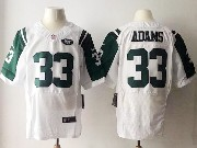Mens Nfl New York Jets #33 Jamal Adams White Elite Jersey