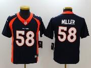 Youth Nfl Denver Broncos #58 Von Miller Blue Vapor Untouchable Limited Jersey
