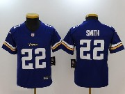 Youth Nfl Minnesota Vikings #22 Harrison Smith Purple Vapor Untouchable Limited Jersey