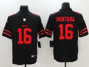 Mens San Francisco 49ers #16 Joe Montana Black Vapor Untouchable Limited Jersey