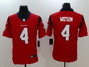 Mens Houston Texans #4 Deshaun Watson Red Vapor Untouchable Limited Player Jersey