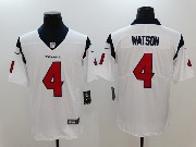 Mens Houston Texans #4 Deshaun Watson White Vapor Untouchable Limited Player Jersey