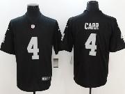 Mens Nfl Las Vegas Raiders #4 Derek Carr Black Vapor Untouchable Limited Jersey