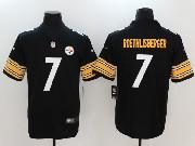 Mens Nfl Pittsburgh Steelers #7 Ben Roethlisberger Black Vapor Untouchable Limited Jersey