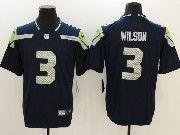 Mens Nfl Seattle Seahawks #3 Russell Wilson Blue 2017 Vapor Untouchable Limited Player Nike Jersey
