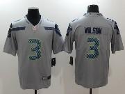 Mens Nfl Seattle Seahawks #3 Russell Wilson Grey Vapor Untouchable Limited Jersey