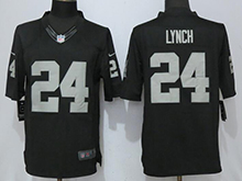 Mens Nfl Las Vegas Raiders #24 Marshawn Lynch Black Limited Jersey