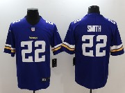 Mens   Minnesota Vikings #22 Harrison Smith Purple Vapor Untouchable Limited Jersey