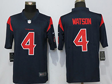 Mens Houston Texans #4 Deshaun Watson Blue Color Rush Limited Jersey