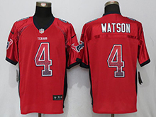 Mens Houston Texans #4 Deshaun Watson Red Drift Fashion Elite Jersey