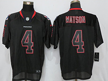 Mens Houston Texans #4 Deshaun Watson Black Lights Out Elite Jersey